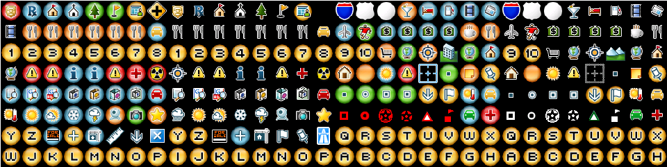 Icons for Google Map-Earth